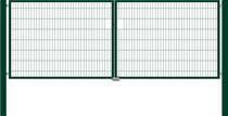 Hillfence | Eco dubbele poort | 180cm | Diepzwart RAL9005