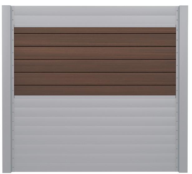 IdeAL | Scherm Zilver- Symmetry Burnt Umber | 180x180 | 6 planks