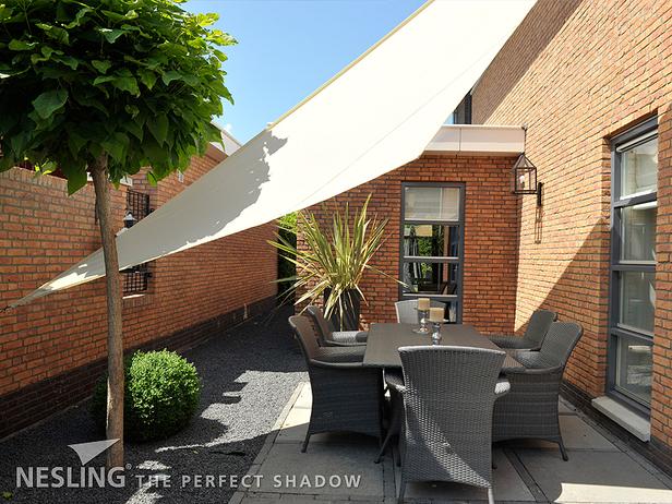 Nesling | Dreamsail Schaduwdoek Waterproof |  Driehoek 4x4x4 | Cream