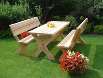 Trendhout | Picknickset Leontien met 2 stoelen