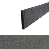 Betonrotsmotief onderplaat | Dubbelzijdig Granietmotief | Ongecoat | Antraciet