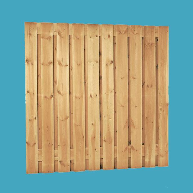 Grenen plankenscherm | 21-planks | 180 x 180 cm