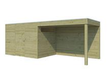 Gardenas | Tuinhuis met luifel BS | 600 x 210
