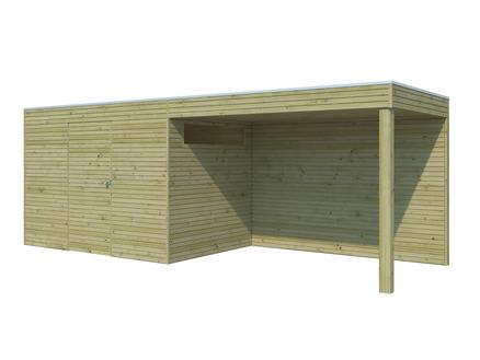 Gardenas | Tuinhuis met luifel BS | 810 x 300