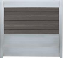 IdeAL   Scherm Zilver- Symmetry Graphite   180x180   6 planks