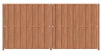 Hardhouten poort op frame | 100 x 180 cm | Inclusief plaatsing