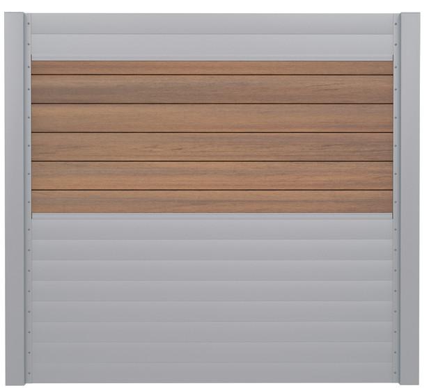 IdeAL | Scherm Zilver- Symmetry Warm Sienna | 180x180 | 6 planks