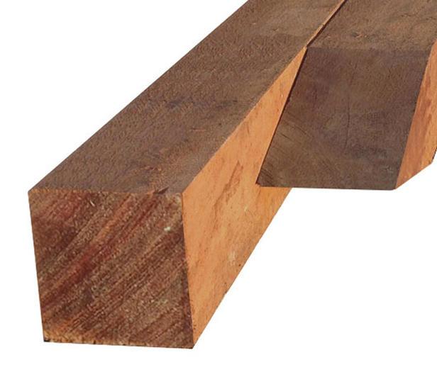 Hardhouten paal | 120 x 120 mm | Azobé | 400 cm