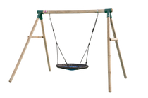 Plum Spider Monkey II | Houten schommel met nestschommel