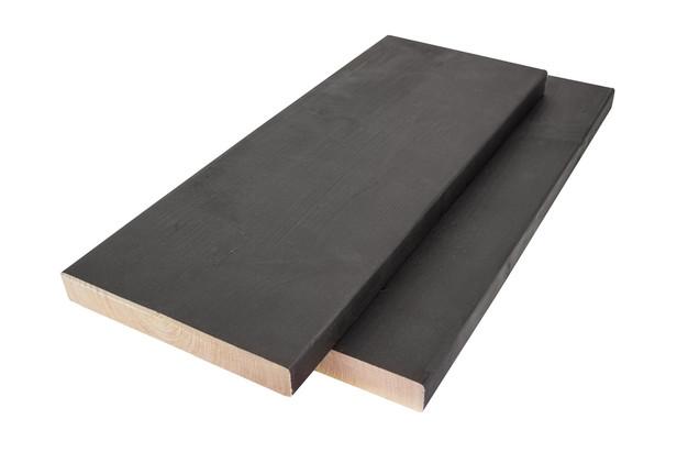 Steigerplank vuren Zwart | 32 x 200 mm | 500 cm | Gespoten