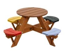 Plum | Kinderpicknicktafel rond