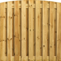 Toogplankenscherm Grenen | 19-planks | Verticaal | 180 x 180 cm