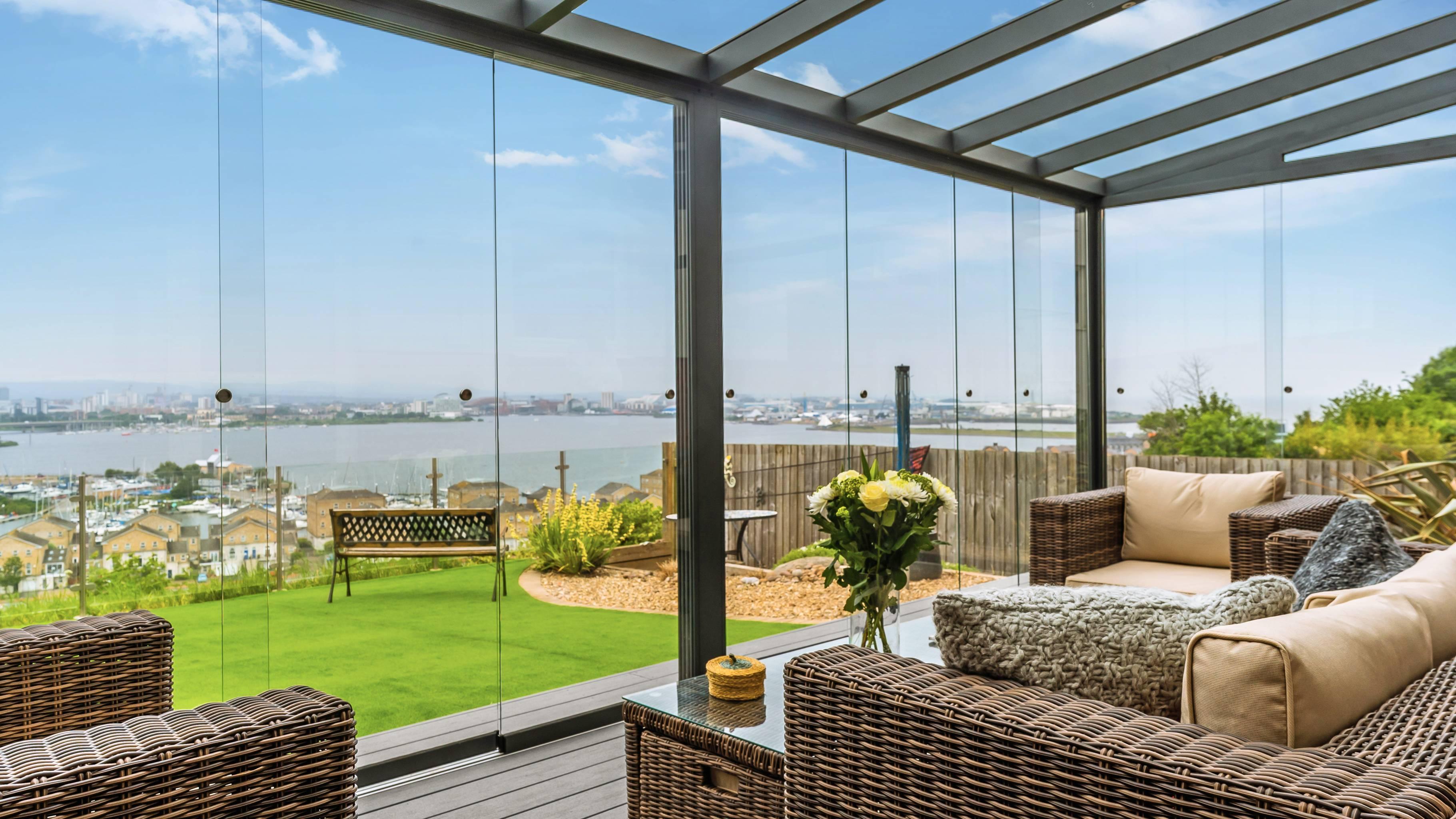 Gardendreams | Glasschuifwanden met 10 mm panelen | 500 cm | 5-rail