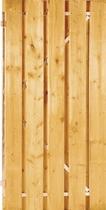 Plankendeur grenen op stalen frame