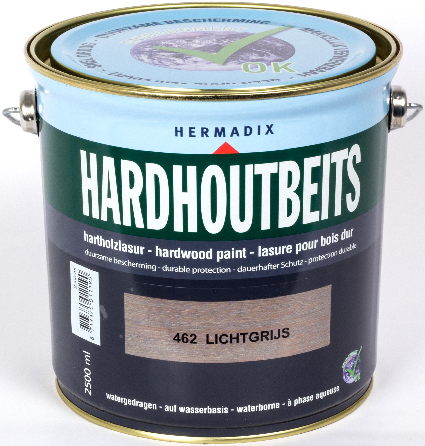 Hermadix | Hardhoutbeits 462 Licht Grijs | 750 ml