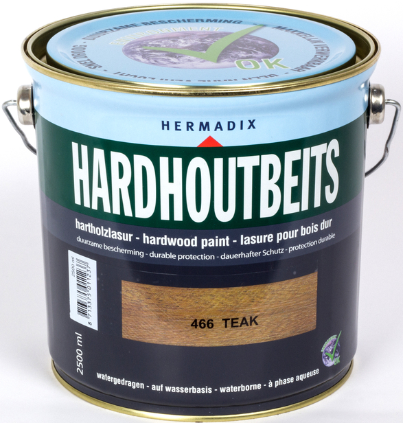 Hermadix   Hardhoutbeits 466 Teak   2,5 L