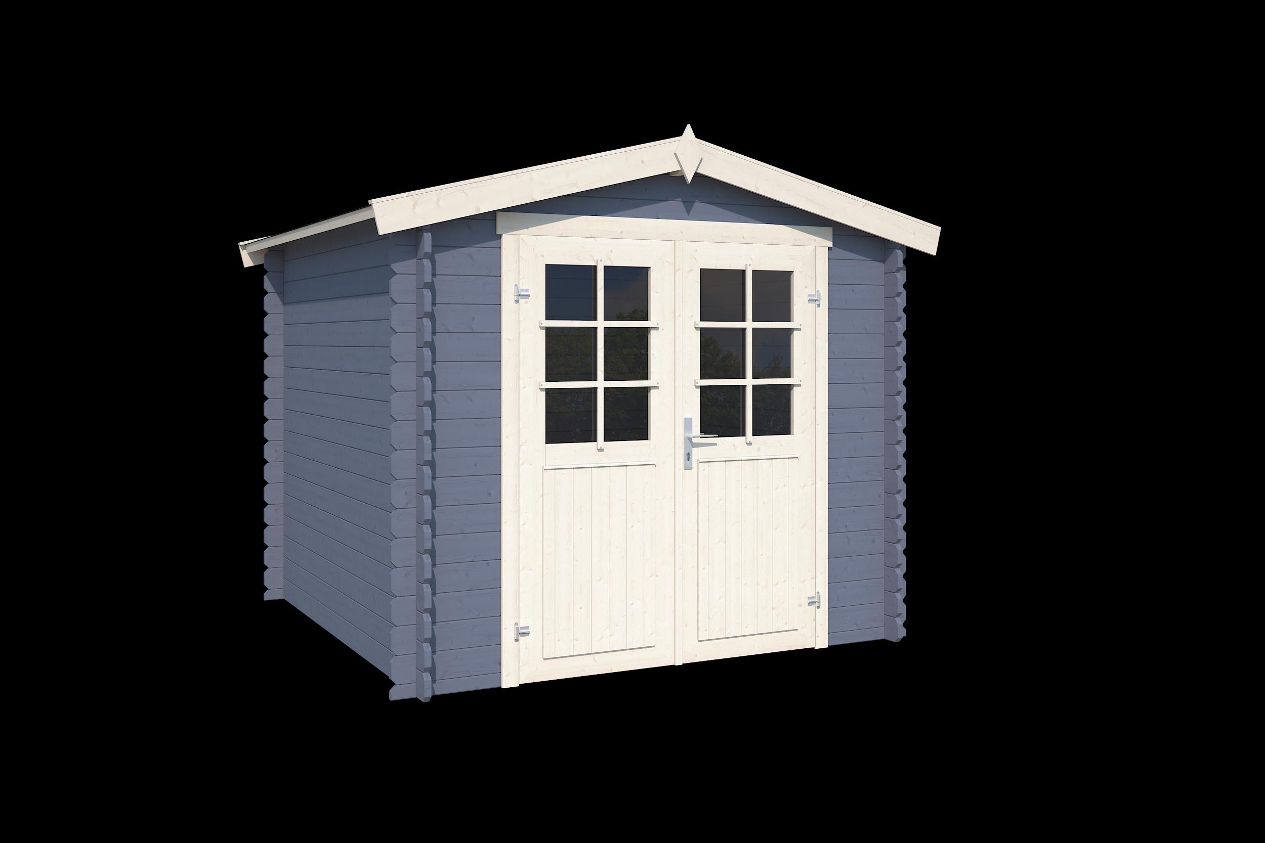 Outdoor Life Products | Blokhut Ingo 230 | Pigeon Blue | 250x250