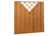 Hardhouten plankenscherm | 180x180cm | 15-planks | Verticaal met trellis