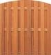 Hardhouten toogscherm   180x180cm   15-planks   Verticaal