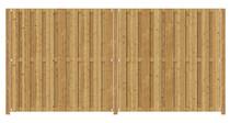 Grenen poort op frame | 100 x 180 cm | Inclusief plaatsing