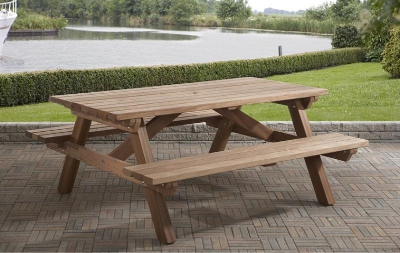 Deze hardhouten picknicktafel van talen is een echt kwaliteitsproduct! door de stevige constructie is deze ...