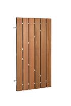 Plankendeur hardhout op verstelbaar stalen frame | Verticaal