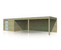 Gardenas | Tuinhuis met luifel QBS | 900 x 300 cm