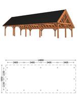 Trendhout | Kapschuur De Hofstee XXL 14.80 m | Combinatie 1