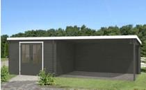 Westwood | Blokhut Amsterdam | 601 x 312 cm | Donker grijs