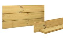 Woodvision | Blokhut afdekplank vuren | 26 x 145 AFDEK PLANK