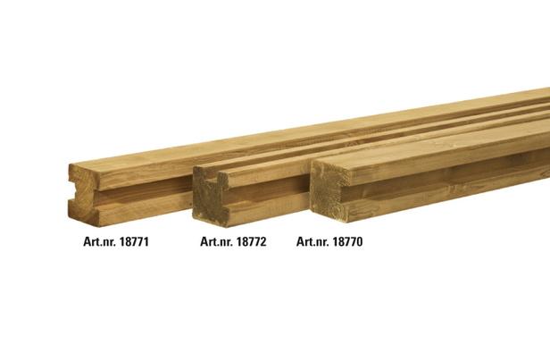 Woodvision | Vierkante paal Grenen 88 x 88 | Hoekpaal