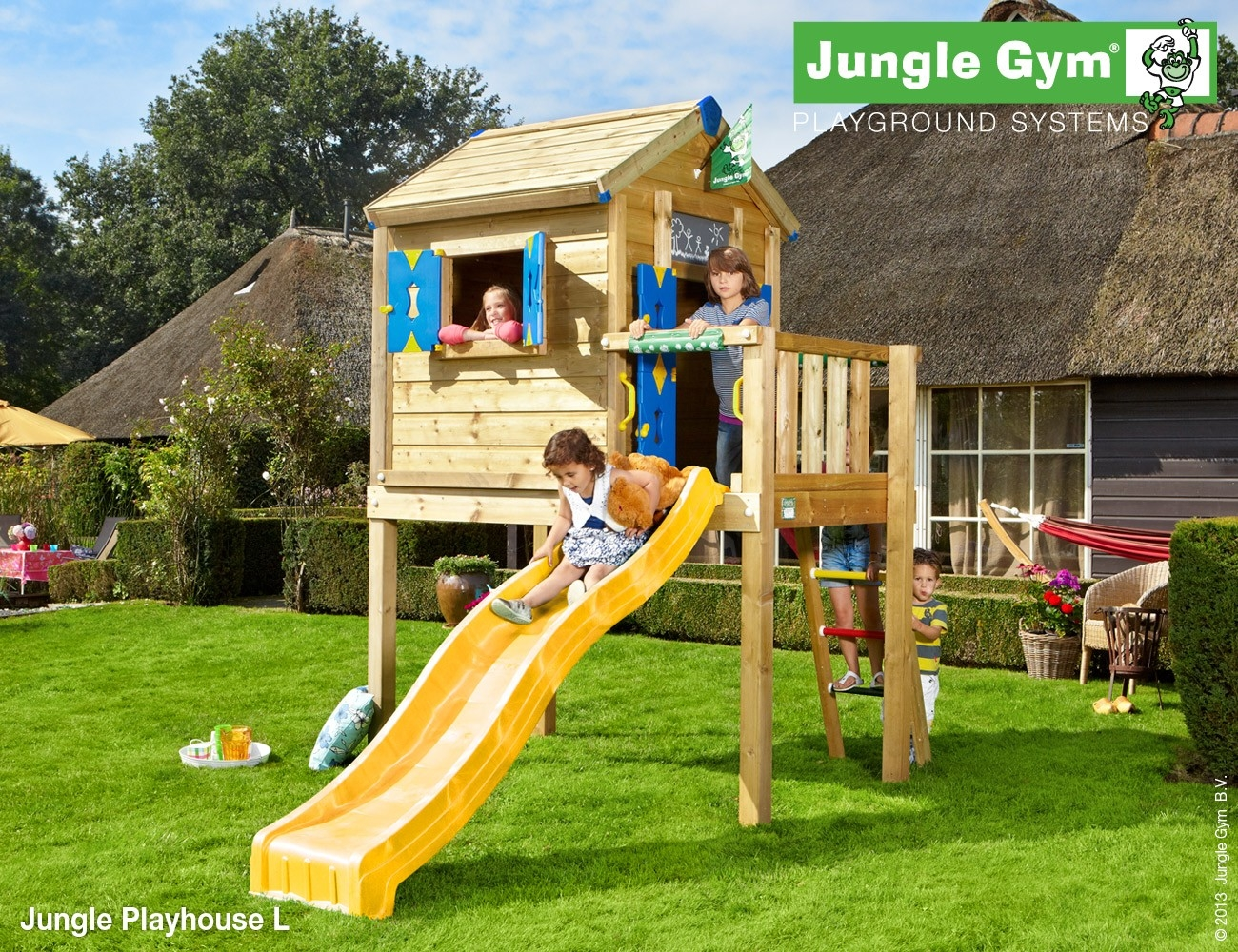 Jungle Gym Playhouse L DeLuxe Geel