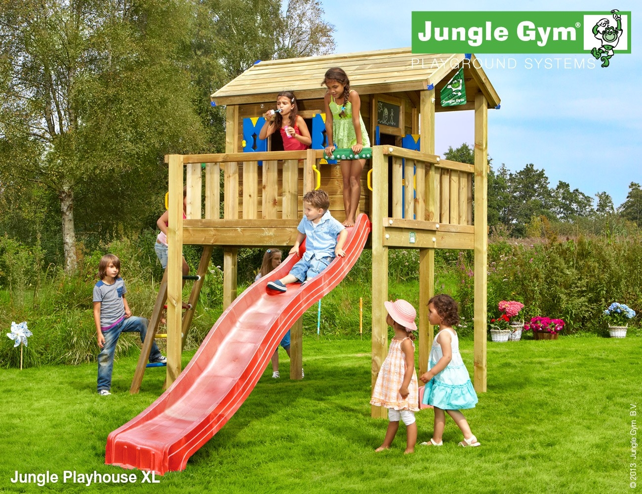 Jungle Gym | Playhouse XL | DeLuxe | Groen