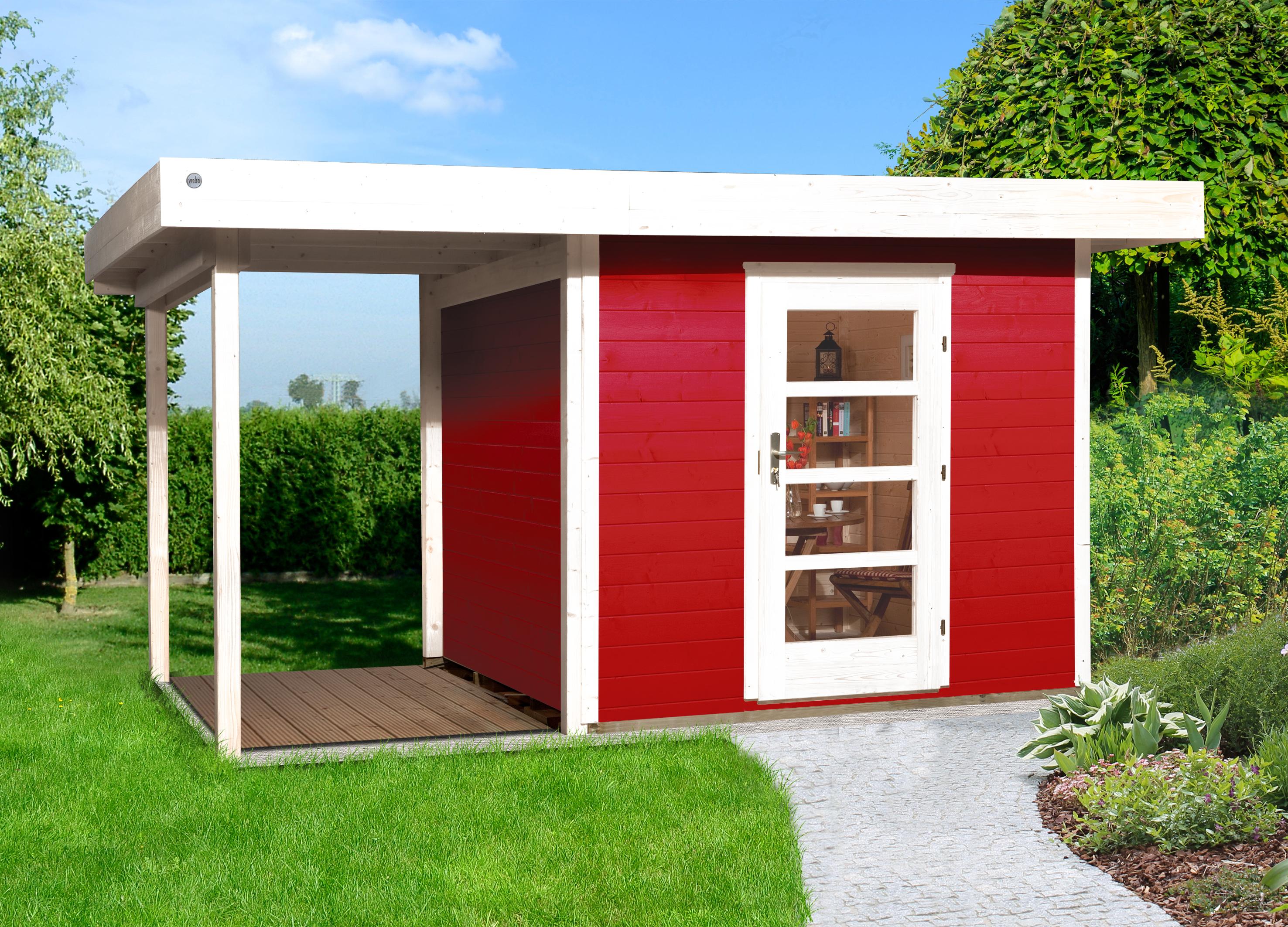 Blokhut | Designhuis 172A Gr.1 | 385 x 240 | Zweeds rood