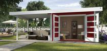 WEKA | Designhuis 126B Gr.1 | 590x240 cm | Antraciet