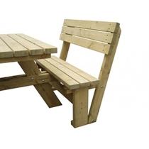 Rugleuning voor picknicktafel Deluxe vierkant