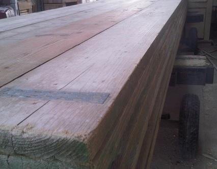 Gebruikte Geborstelde Steigerplank | 32 x 200 | 500 cm