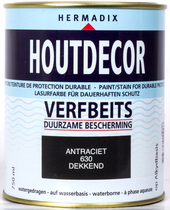 Hermadix | Houtdecor 630 Antraciet | 750 ml