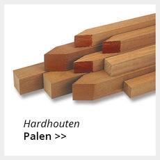 Hardhouten palen
