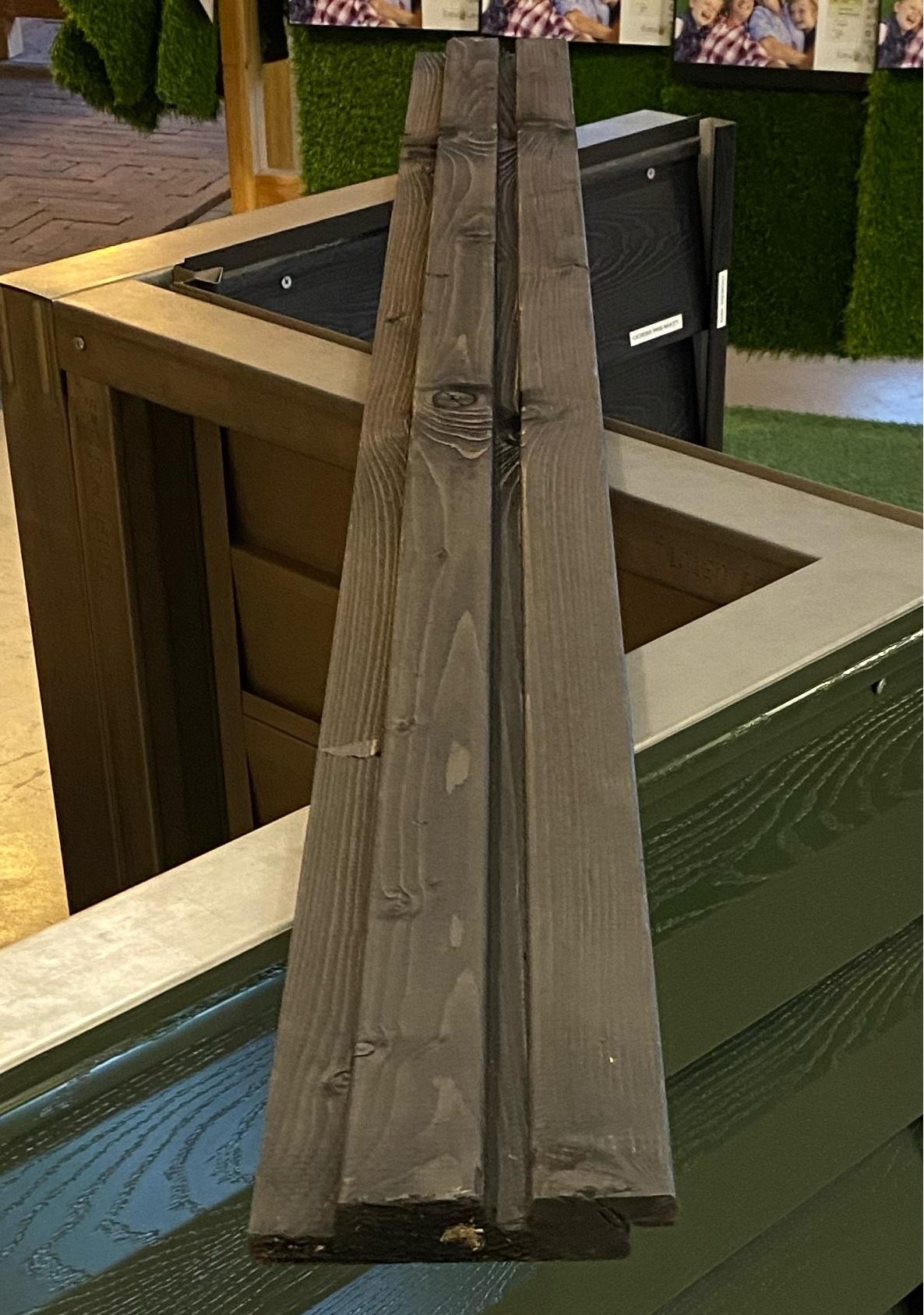 Dubbel Rhombusprofiel | Vuren ZWART | 27 x 145 mm | 450 cm