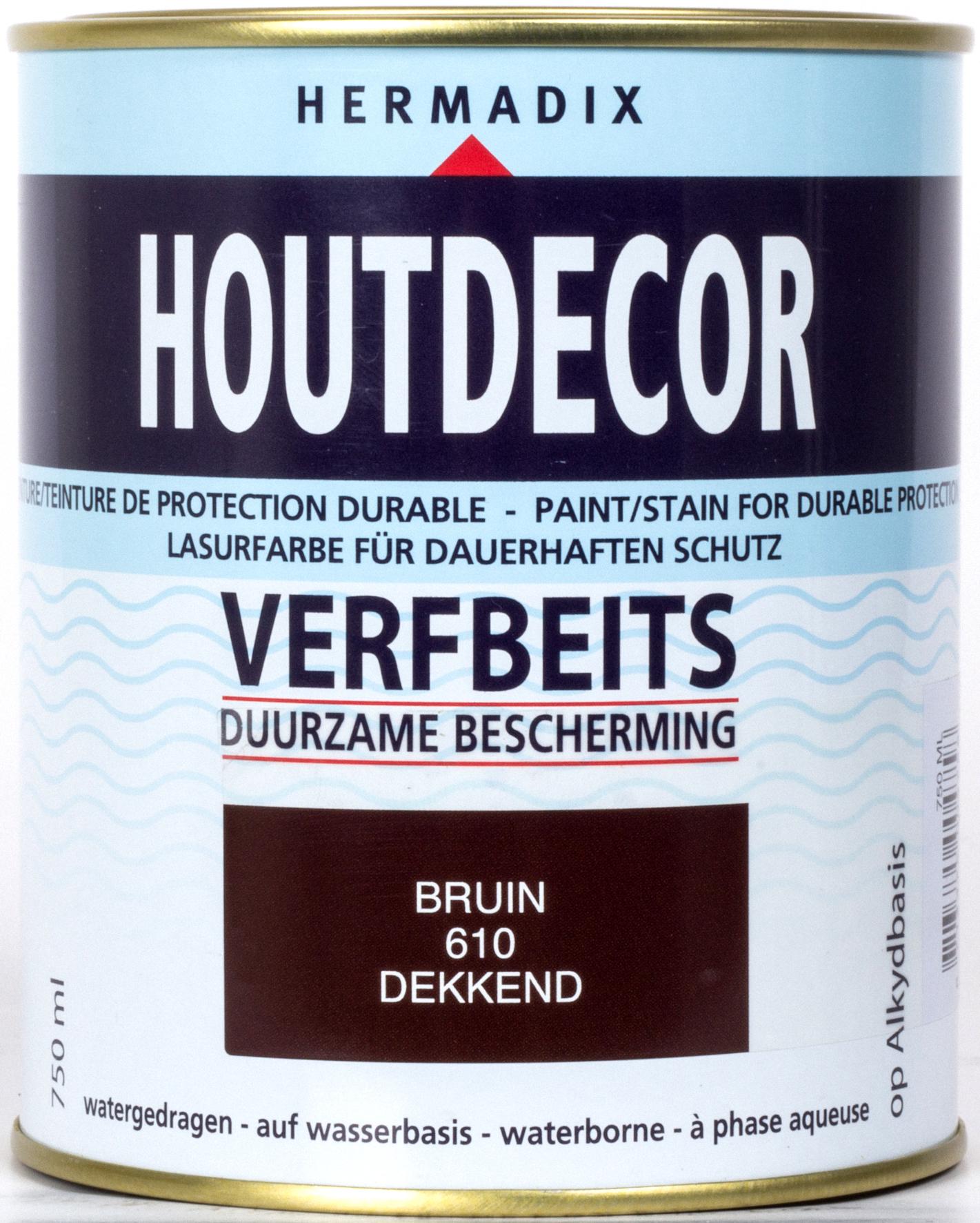 Hermadix | Houtdecor 610 Bruin | 750 ml