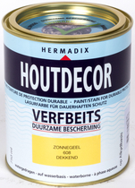 Hermadix | Houtdecor 608 Zonnegeel | 750 ml