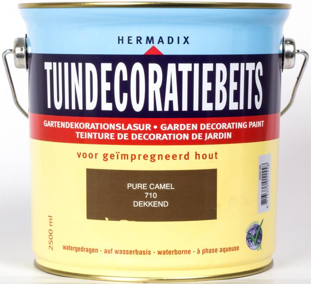 Hermadix   Tuindecoratiebeits 710 Pure Camel   2,5 L