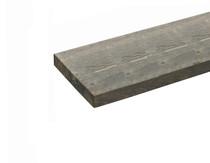 Steigerplank | Vuren | 28 x 195 mm | Donkergrijs | 500 cm