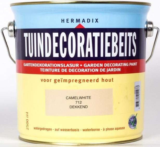 Hermadix | Tuindecoratiebeits 712 Camel White | 2,5 L