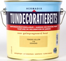 Hermadix | Tuindecoratiebeits 718 Tender Yellow | 2,5 L