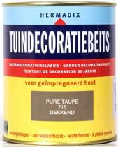 Hermadix   Tuindecoratiebeits 715 Pure Taupe   750 ml
