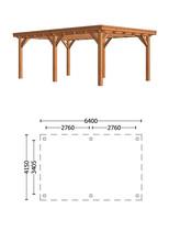 Trendhout | Buitenverblijf Siena 6400 mm | C1