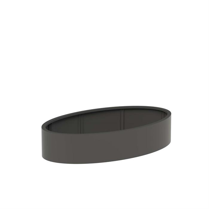 Adezz | Aluminium bloembak Ellipse | 200 x 120 x 40 cm