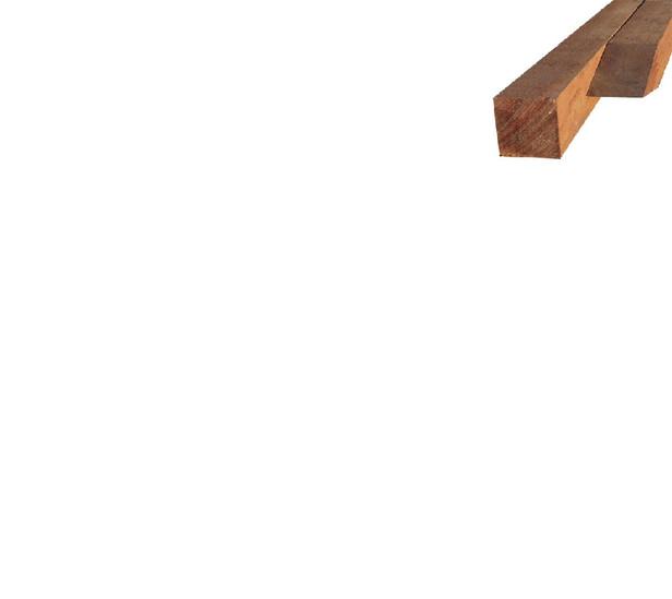 Hardhouten piketpaal | 25 x 25 mm | Azobé | 40 cm